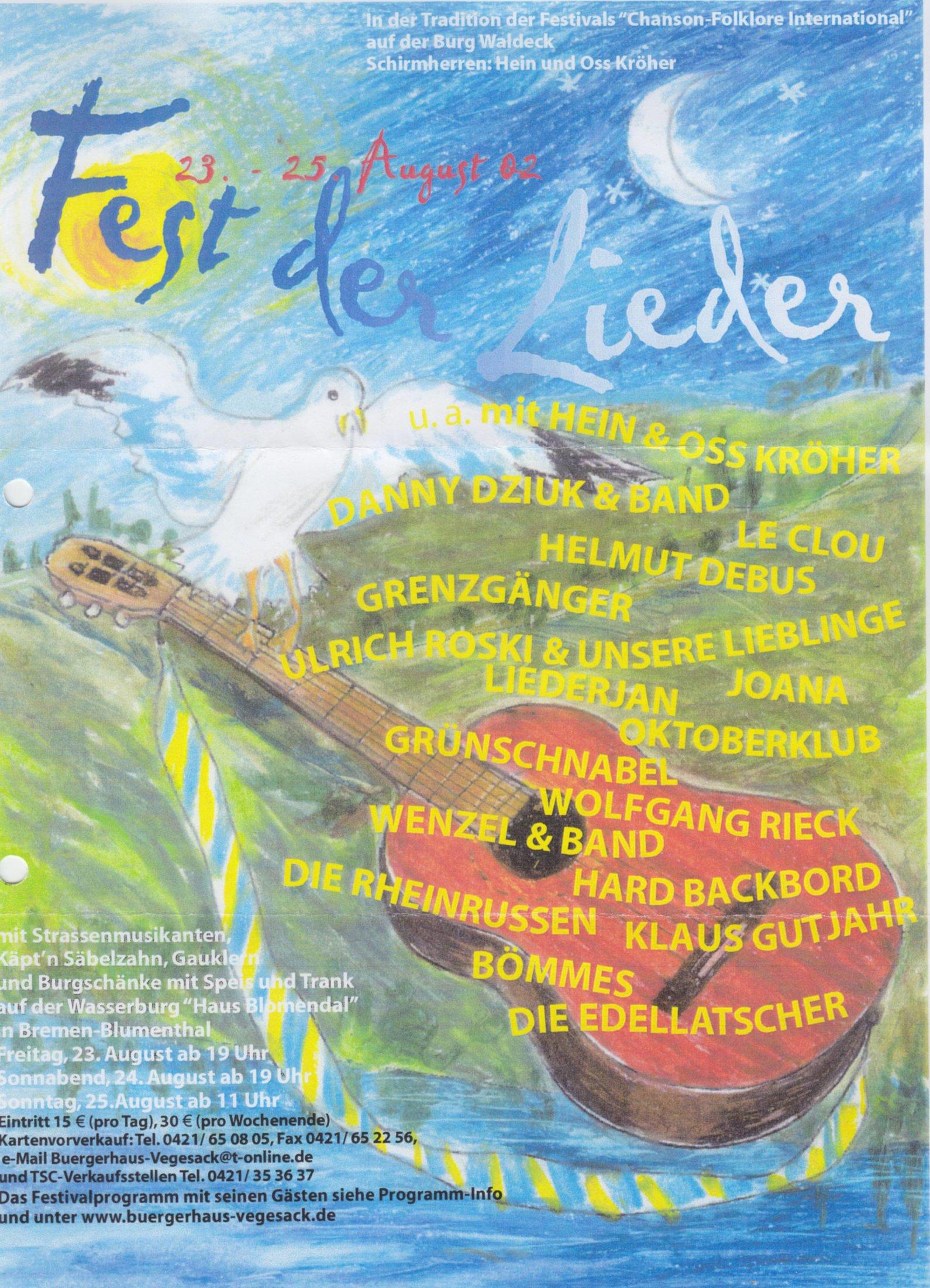 Fest der Lieder Bremen (2002)