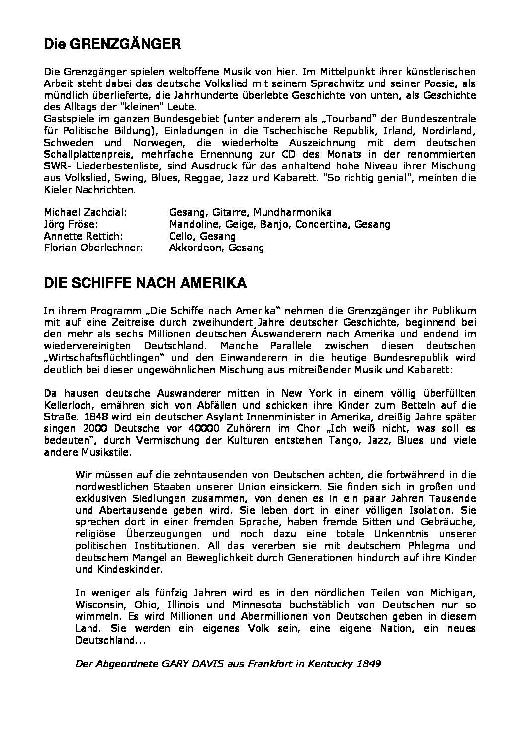 Konzert Schiffe Nach Amerika-pdf